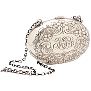 Antique Sterling Dance Purse by Watrous Hand Engraved