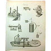 A Pair of late Georgian Engravings of Electricity c 1821
