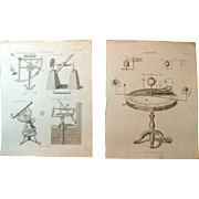 A Pair of Late Georgian Engravings of Astronomy c. 1821