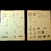 A Pair of Late Georgian Engravings of Geometry c. 1821