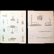 A Pair of Late Georgian Engravings c. 1821