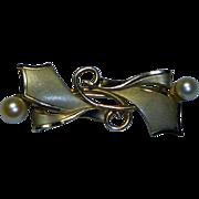 Vintage Cultured Pearl Brooch