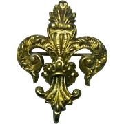Antique Victorian Fleur D Lis Watch Pin