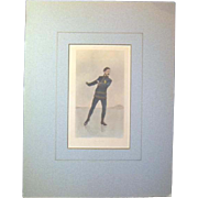 Antique Sporting Print of Skater Edgar Svers