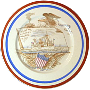 Antique Sinking of the Maine Plate