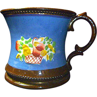 Antique Victorian English Copper Luster Mug