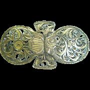 Antique English Georgian Watch Cocks Brooch