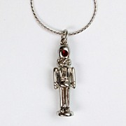Nutcracker necklace, tiny size with crystal