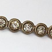 Vintage rhinestone bar pin, 1930's