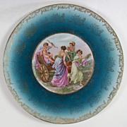 "Vintage German porcelain plate, marked ""grov saxe E.S. Germany"""