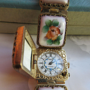 Vintage Russian Porcelain Wrist Watch