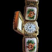 Vintage Russian Porcelain Wrist Watch