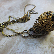Antique Perfume Chatelaine Necklace