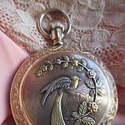 Antique Ornate Gold Fill Pocket Watch with Gold Embellishments