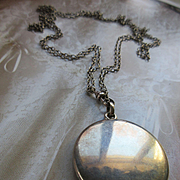 Antique Sterling Locket Necklace