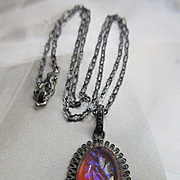 Vintage Sterling Dragon's Breath Necklace