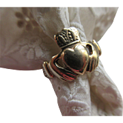 Vintage Irish Claddagh 9CT 375 Ring Irish Hallmarks