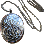 Vintage Sterling Locket Necklace