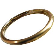Antique Tiffany and Co 22K Yellow Gold Wedding Band