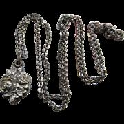 Vintage Sterling Sliding Miraculous Medal Necklace