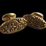 Antique Repousse 14K Cufflinks