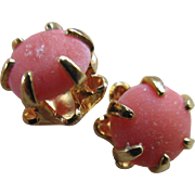 Vintage 10k Coral Pierced Post Earrings