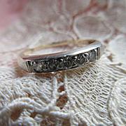 Vintage 30s 10K Diamond Wedding Band