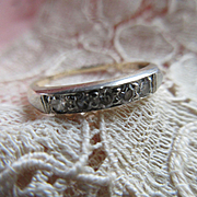 Vintage 30s 10K Diamond Wedding Band
