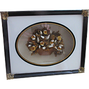 Victorian Dried Flower and Sea Shell Diorama