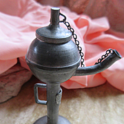 Antique Cigar Lighter Miniature Betty Lamp