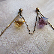 Antique Victorian Cloak Closure Double Stick Pin