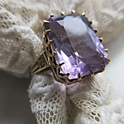 Antique Victorian 14K Yellow Gold Amethyst Ring