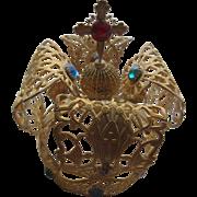 Vintage Religious Gilt Jeweled Crown For Santos