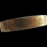 Antique 10K Yellow Gold Bangle Bracelet