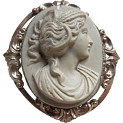 Antique Cameo Brooch in Relief