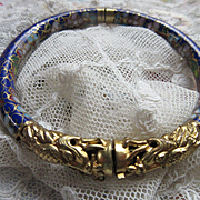 Vintage Deco 20s Cloisonne Dragon Bangle Bracelet