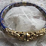 Vintage Deco 20s Cloisonne Dragon Bangle Bracelet