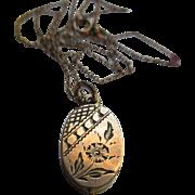 Victorian Gold Fill Locket Necklace