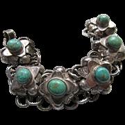 Vintage Silver Mexican Bracelet Circa 1930