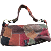 Vintage 90s Great American Leatherworks Patchwork Handbag  Bohemian Fashion