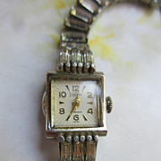 Vintage Valjean Swiss 17 Jewel Ladies Wrist Watch Jeweled Band