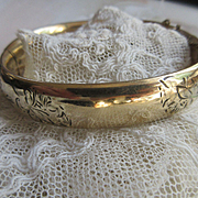 Older Vintage Bangle Bracelet in Gold Fill Harry Ballon and Company