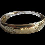 Older Vintage Bangle Bracelet in Gold Fill Harry Ballon and Company