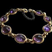 Vintage circa 1930 Amethyst 14K Bracelet