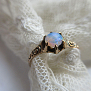 Antique Victorian 10K Opal Ring