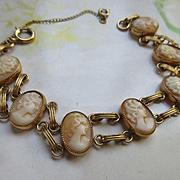 Vintage Cameo Bracelet 12K Gold Fill