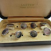 Vintage 1920s Boxed Tuxedo Set Cufflinks Waistcoat Buttons