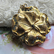 Victorian Art Nouveau Pansy Locket