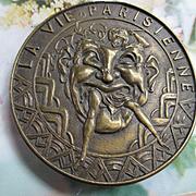 Vintage La Vie Parisienne Brass Buckle