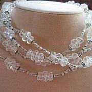 Vintage Miriam Haskell Crystal Necklace